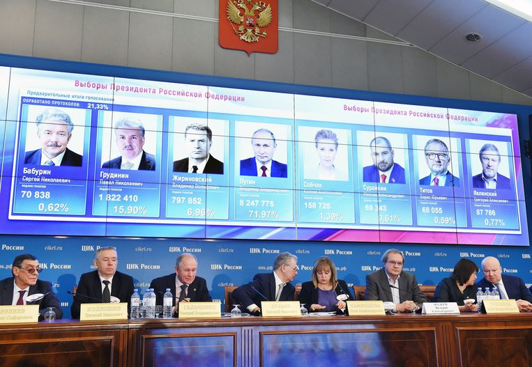 Er waren in totaal zeven kandidaten voor de presidentsverkiezingen.
