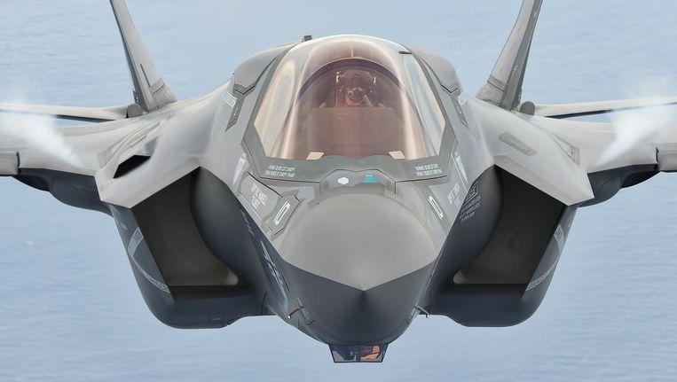 Een F-35 van het Amerikaanse marinierskorps vliegt boven de basis Beaufort in South-Carolina. Beeld Lockheed Martin
