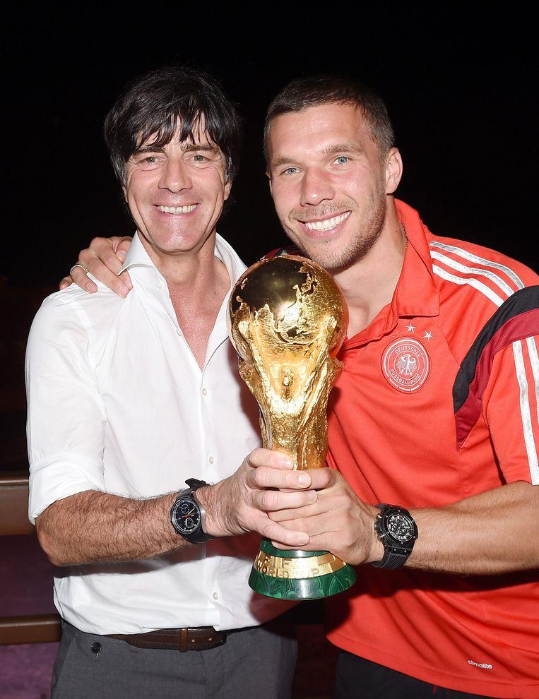 Samen met Joachim Löw en de vorig jaar in Brazilië behaalde wereldbeker.