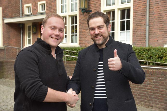 Thierry Aartsen en Klaas Dijkhoff enkele jaren geleden voor de raadzaal van Breda.