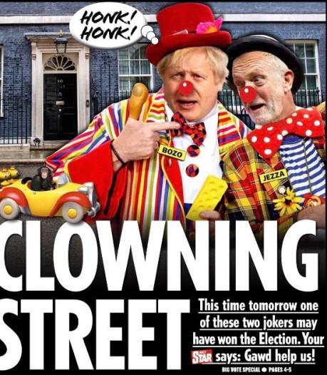 Britse kranten jutten kiezers op: 'Clowning Street'