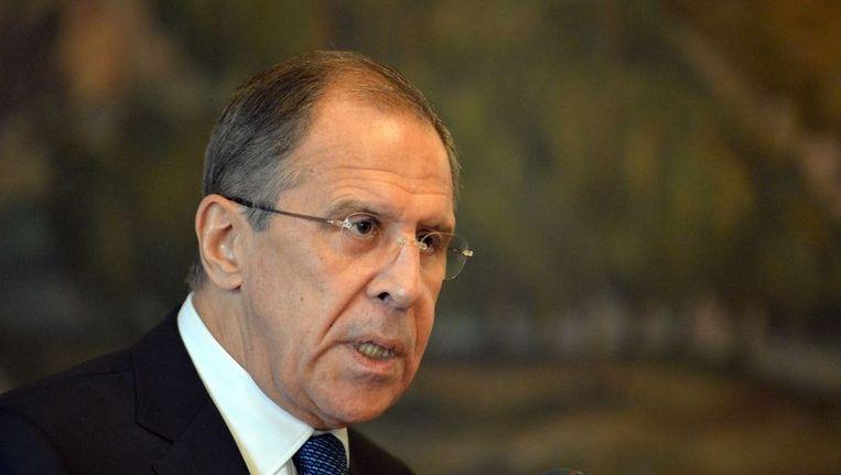 Russische minister van Buitenlandse Zaken Sergej Lavrov Beeld ANP