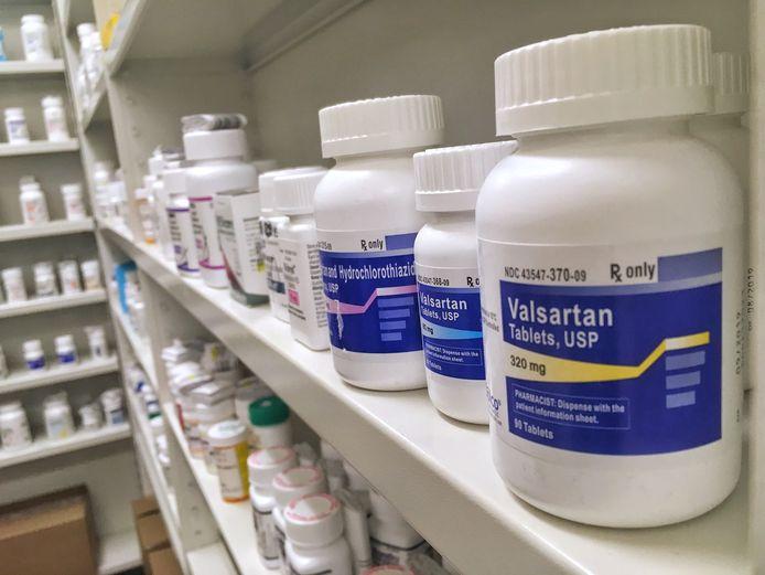 Valsartan-tabletten in een apotheek.