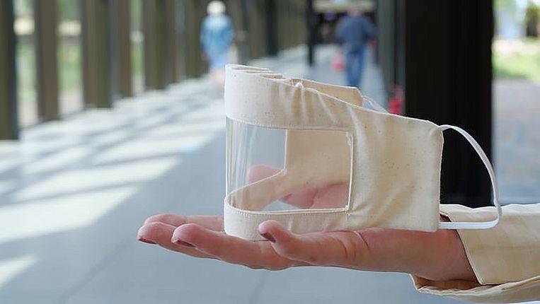 Een transparant mondkapje. Beeld Amphia ziekenhuis