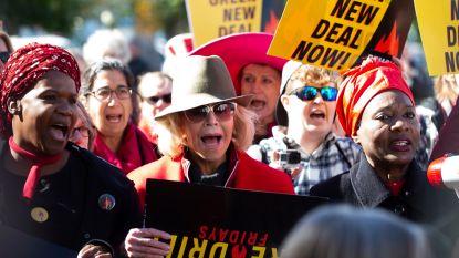 Jane Fonda voor de vierde week op rij gearresteerd tijdens klimaatprotest