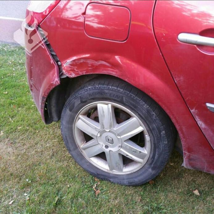 Bij de aanrijding in Boxmeer reed een automobilist door.