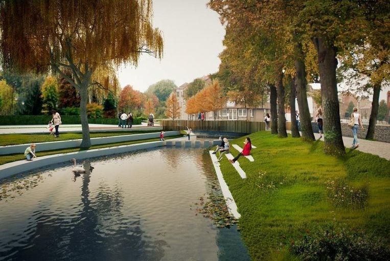 Tussen De Motten en de Kevie wordt via de Jeker een verbinding tussen park en natuurgebied gecreëerd. De idee is nu om op de site van het voormalige zwembad en de parking een stadsbos aan te leggen.