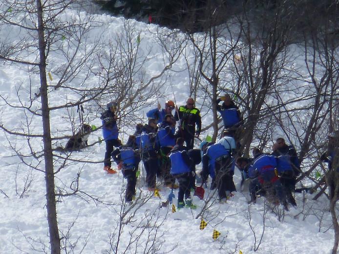 Reddingswerkers vonden Timo kort na de lawine.