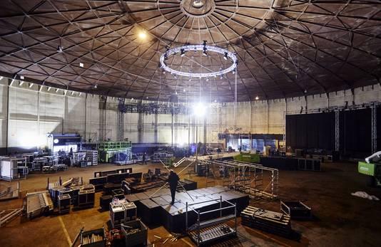 De Ferro Dome wordt opgebouwd voor een feest.