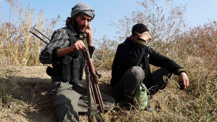 Strijders van het Vrije Syrische Leger. Beeld REUTERS