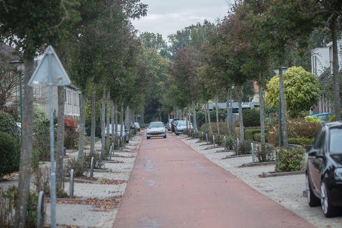 Auto/fietsstraat Zomerland in Geldrop
