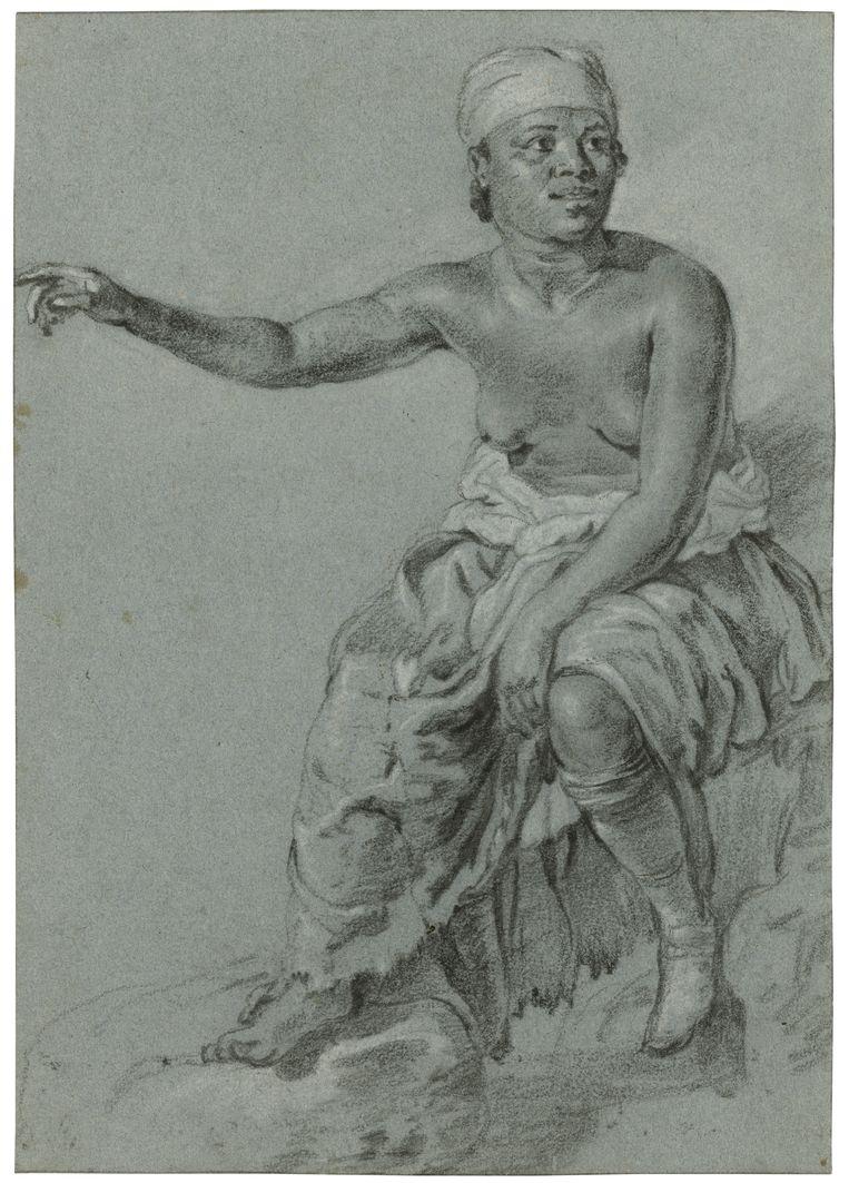De zittende zwarte vrouw van Jacob Adriaensz Backer. Beeld Rembrandthuis