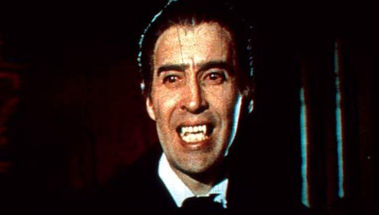 Acteur Christoper Lee als Dracula. Beeld