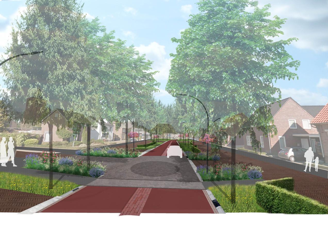 Impressie van de toekomstige Eindhovenseweg.