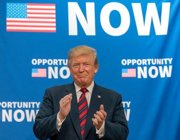 President Donald Trump wordt in het rapport vrijgepleit van samenzwering met de Russen.