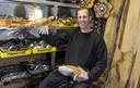 EIBERGEN - TT-2019-014249 - Recyclekunstenaar Bert Koerts. Bestek en hout vormen bestanddelen van zijn kunst. Fotobon-nummer: TT-2019-014249 EDITIE: AC FOTO: Frans Nikkels FN20191106