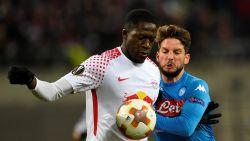 Dries Mertens sneuvelt met Napoli op een zucht van kwalificatie tegen Leipzig