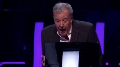 Jeremy Clarkson blundert als  quizmaster in 'Who Wants To Be a Millionaire': kandidaat blijft beteuterd achter
