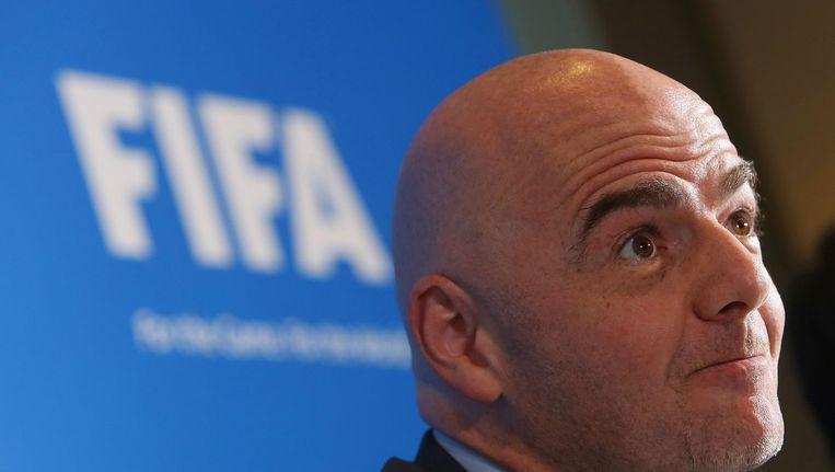 De nieuwe FIFA-voorzitter Gianni Infantino. Beeld AFP