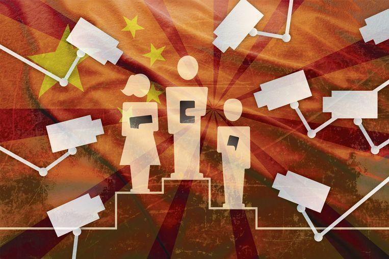 'Big brother in China' Beeld Thijs Balder