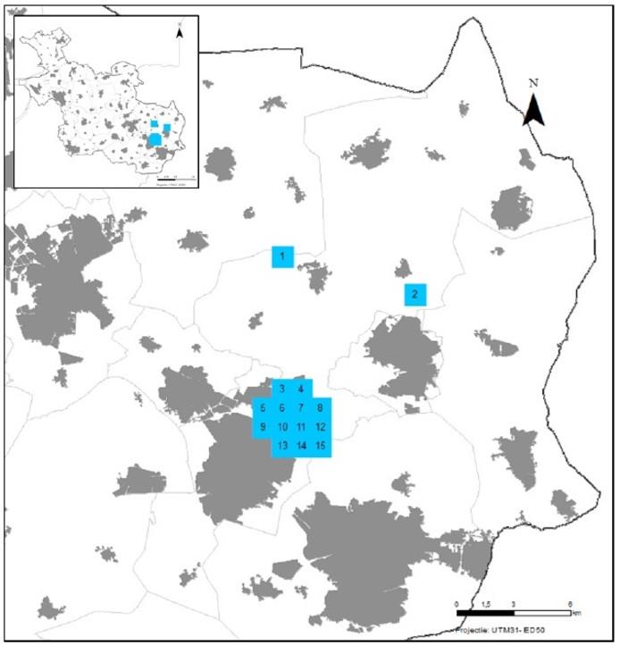 Kaart zoekgebied opslag waterstofgas en perslucht