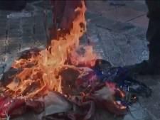 Des drapeaux américains brûlés lors de l'investiture de Joe Biden