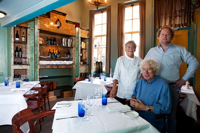 Foto van een aantal jaren geleden: Alain Legel (rechts), met zijn inmiddels overleden ouders.