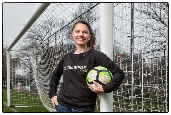 Jill Eekhart, voorzitter van de Amsterdamse voetbalclub DVVA