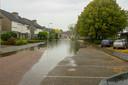 In Someren zijn meerdere straten onder water gelopen.