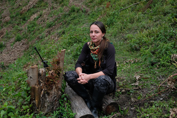 Tanja Nijmeijer in Vereda La Elvira, Colombia
