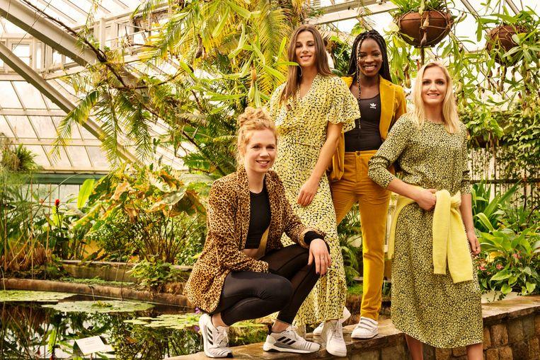 De Belgian Cheetahs (v.l.n.r. Margo Van Puyvelde, Camille Laus, Cynthia Bolingo, Hanne Claes)