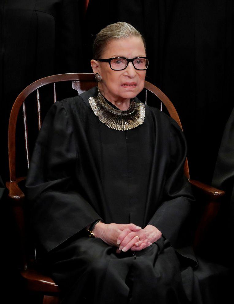 Ruth Bader Ginsburg in 2018. Beeld REUTERS