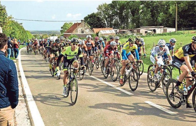 De passage van de renners in De Klijte.