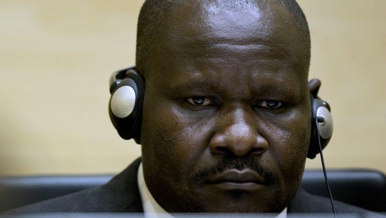 Congolees Mathieu Ngudjolo, 37, in het Internationaal Gerechtshof in Den Haag Beeld ANP