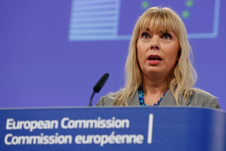 Elzbieta Bienkowska, Europees commissaris voor Interne Markt. Beeld anp