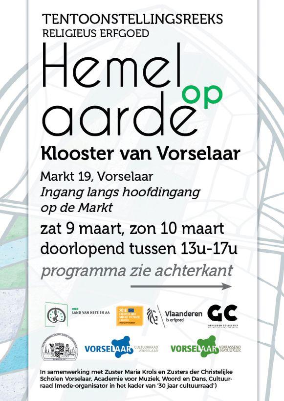 De affiche van Hemel op Aarde in Vorselaar.