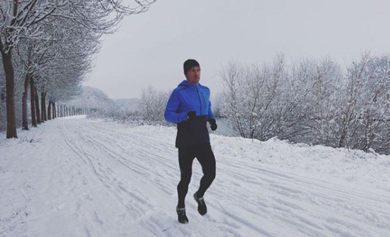 Frederik Van Lierde trainde de afgelopen dagen door in de sneeuw.