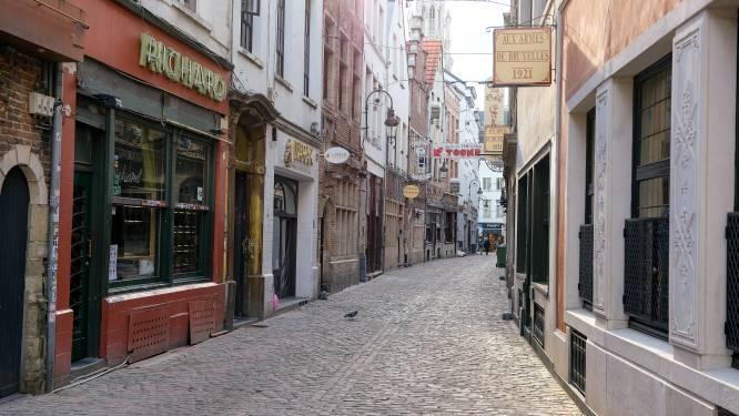 IN BEELD. Restaurantstraten in Brusselse binnenstad liggen er doods bij