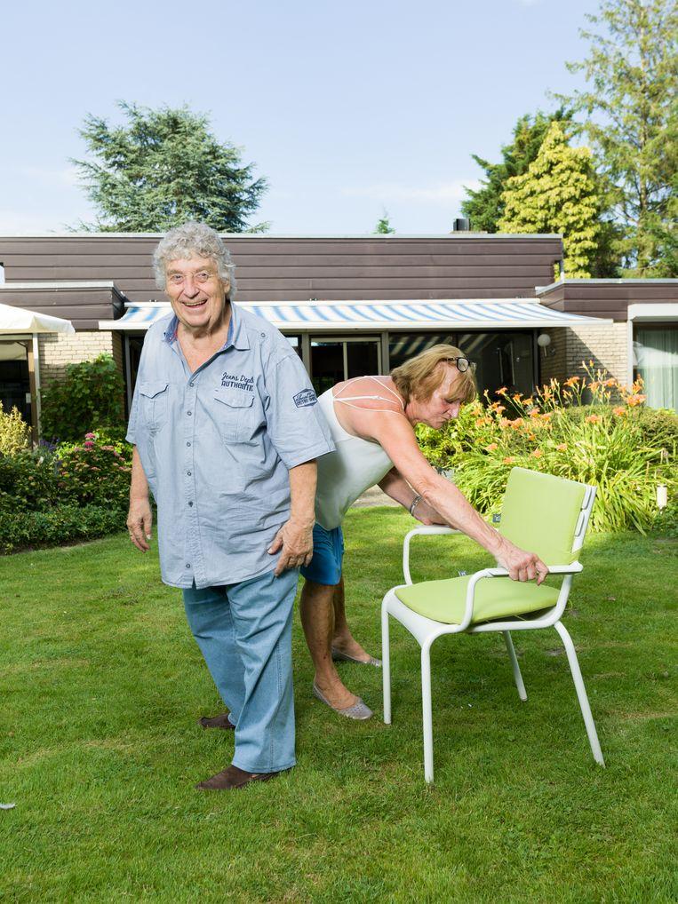 Tonny Eyk en zijn vrouw Liesbeth Vasbinder. Beeld Ivo van der Bent