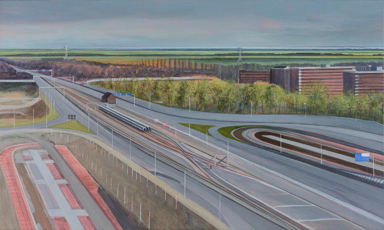 Nieuwe Leeuwarderweg en eindpunt metro Beeld Sigrid van Essel