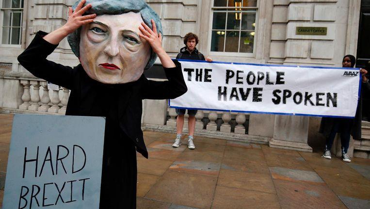 Demonstratie tegen een mogelijke harde Brexit Beeld afp