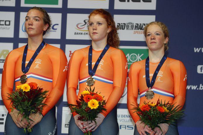 Shanne Braspennincx, Hetty van de Wouw en Kyra Lamberink.