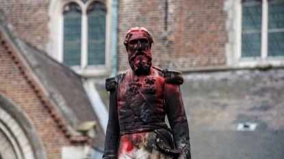 """Na graffiti en rode verf nu brandstichting aan omstreden beeld van Leopold II: """"Monument moet  sowieso tijdelijk weg"""""""
