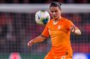Sherida Spitse tijdens het duel met Turkije vorige maand in het Philips Stadion.