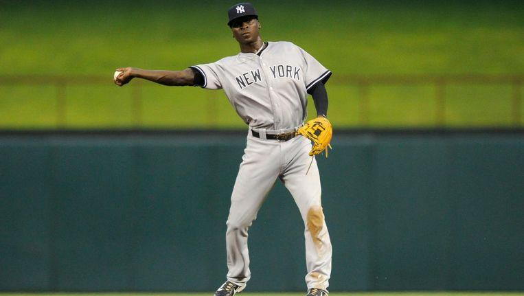 Gregorius in actie voor de Yankees. Beeld Proshots