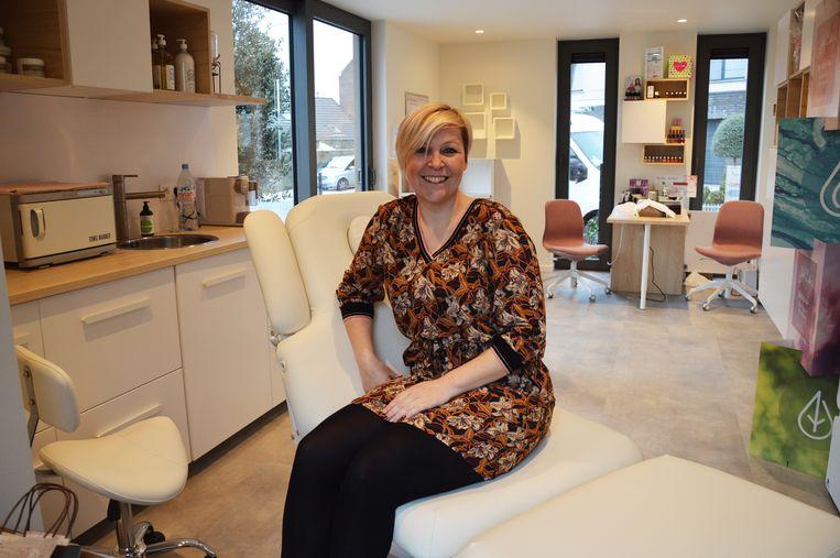 Wendy Van Droogenbroeck in haar nieuwe schoonheidssalon 'Beauty in the Box'.