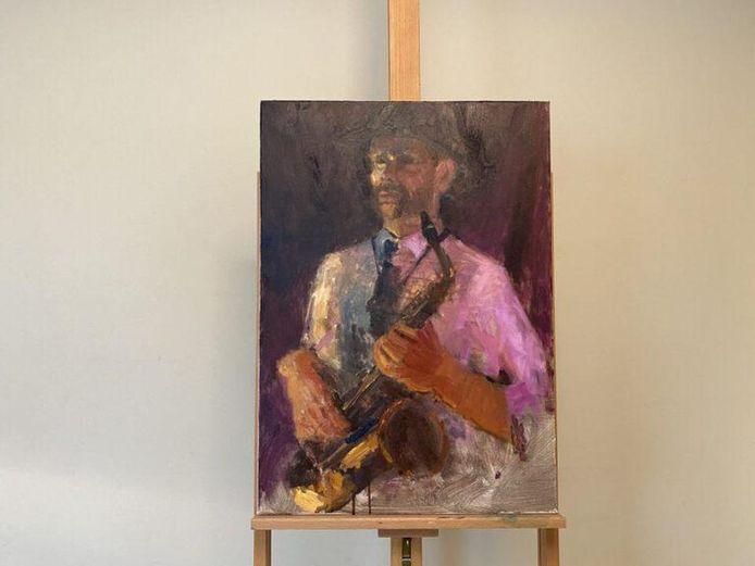 Mela's portret van een muzikant.
