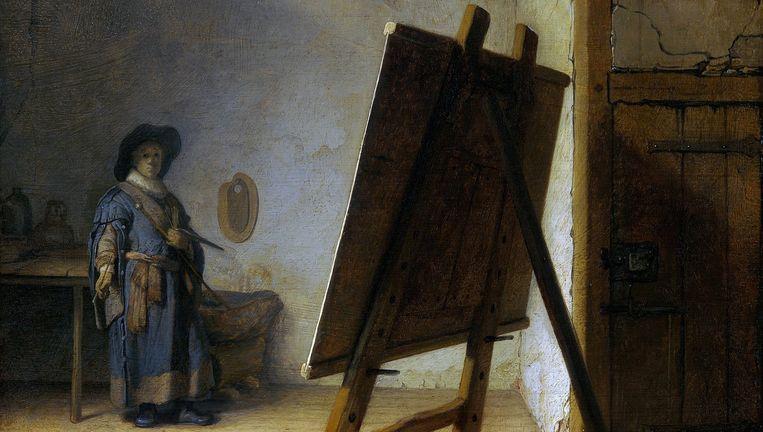 Rembrandt van Rijn, De schilder in zijn atelier (1629) Beeld Museum of Fine Arts, Boston