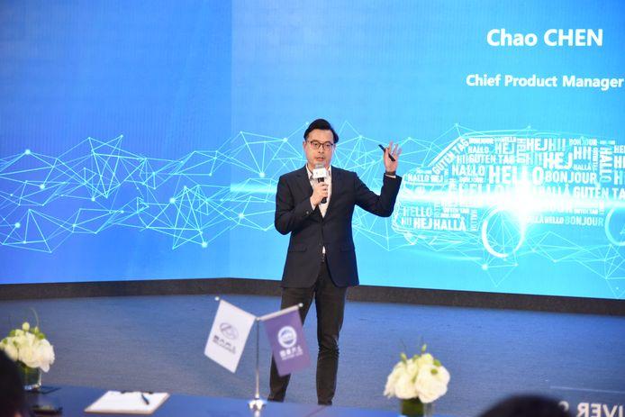 Chao Chen, de grote productbaas van SAIC Motors