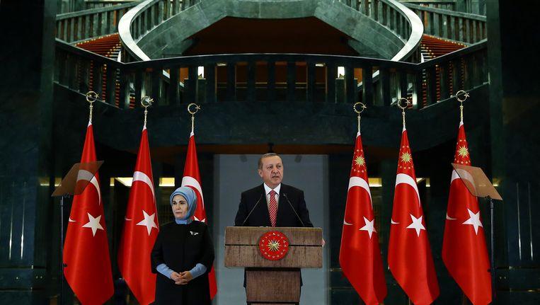De Turkse president Erdogan in Ankara, 24 november 2015. Beeld ap